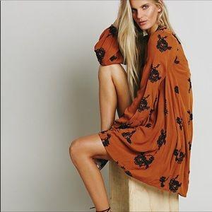 Free People burnt orange floral dress